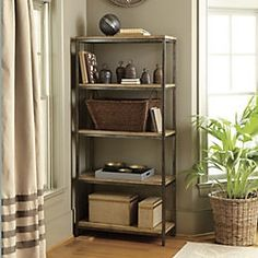 Durham Tall Bookcase - traditional - bookcases cabinets and computer armoires - Ballard Designs.Two for my next kitchen. Home Office Furniture, Online Furniture, Furniture Decor, Traditional Bookcases, Computer Armoire, Ballard Designs, Wood Shelves, Room Inspiration, Home Accessories