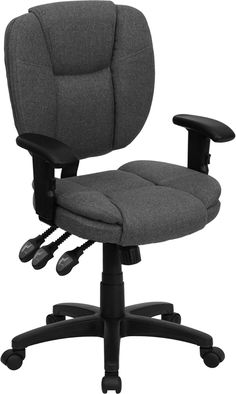 Flash Furniture Burgundy Fabric Contemporary Task Chair at Lowe's. This multi-functional office chair will give you an edge on comfort with its design and adjusting capabilities. This office chair features fabric Swivel Office Chair, Mesh Office Chair, Office Chairs, Office Desk, Executive Chair, Ergonomic Chair, Chair Backs, Grey Chair, Chair Upholstery