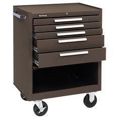 Kennedy 5 Drawer Roller Cabinet Brown