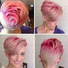 Resultado de imagen para blonde pixie cut purple
