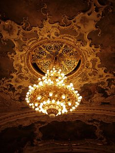 Prague Opera House's amazing chandelier  #AWomansPraugeative #OPIEuroCentrale