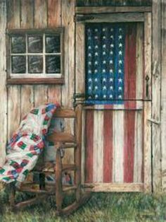 Americana. For my garage side door....dont do bright vibrant colors..more dull..not perfect...one coat
