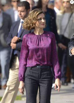 King Felipe and Queen Letizia visited Colombres, Asturias, Spain, 24 October 2015.