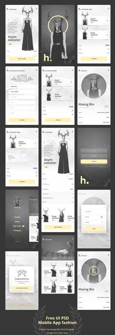 Free UI PSD Mobile App Fashion & Ecommerce ver 2.0 #freepsdgraphics #freepsdfiles #psdtemplates #uidesign #uiux