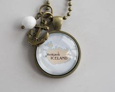 Map of Iceland Pendant  Map Pendant Necklace  Custom Jewelry