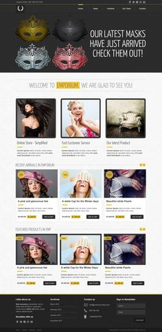 This is the home page template of our latest Premium Template called Emporium in PSD format. This is a template for an ecommerce website. It has a yellow / dark color combination with clean grid to display your portfolio.