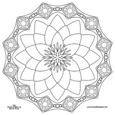 Waterlily and Ruby mandala for July- transparent PNG version