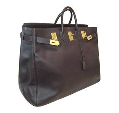 "Hermes HAC Bag 55 Brown - 21""w x 20""h x 10.5""d"