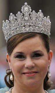 Tiara Mania: Luxembourg Empire Tiara worn by Grand Duchess Maria Teresa of Luxembourg