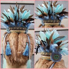Feather Headdress for adult or child. Tiger Lily by ScarletHarlow Feather Headpiece, Feather Art, Headpiece Wedding, Body Painting, Wedding Jewelry, Dream Catcher, Boho Fashion, Native American, Lily