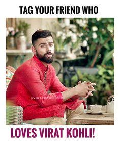 I'll tag myself as I just love Virat Kohli Virat Kohli Instagram, Virat Kohli And Anushka, Virat Kohli Wallpapers, Sports Memes, Anushka Sharma, Alia Bhatt, Best Couple, Slay, Cricket