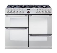 Stoves Sterling 1100DFT Stainless Steel 110 Dual Fuel Range Cooker