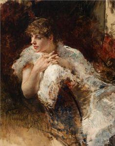 """Giuseppe de Nittis:  """"A Lady From Naples"""""""