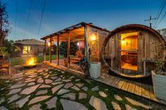 Pardee Properties - Custom Outdoor Finnish Sauna in Vintage Santa Monica Home