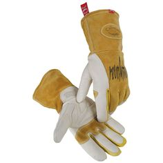 1810 - Caiman Welding Gloves - MIG / Stick, Cow Grain - Unlined, padded and reinforced palm for added protection and comfort - Top grain leather forchettes and finger tips - Two-layer insulated back f