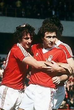 Martin O'Neill and Trevor Francis Nottingham Forest 1980 Trevor Francis, Nottingham Forest Fc, Pure Football, Soccer Players, Ant, Liverpool, Kicks, Clock, Adidas