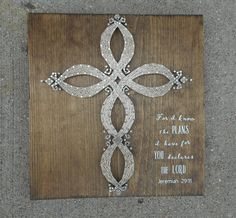 Cross String Art  MADE TO ORDER Handmade Infinity Cross