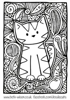 Kitten Adult Difficult Cute Cat Coloring Pages Printable And Book To Print For Free Find More Online Kids Adults Of