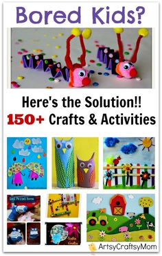 150+ Art and Craft Activities for kids to make - Artsy Craftsy Mom