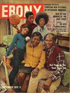 "Ebony: The cast of ""Good Times"", September 1975 Jet Magazine, Black Magazine, Magazine Stand, Ebony Magazine Cover, Magazine Covers, Dona Summer, Good Times Tv Show, Black Sitcoms, Essence Magazine"