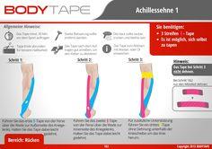 Achillessehne Tapen Kinesiologie / Schritt-für-Schritt ⚠️ Mehr unter: www.bodytape.net