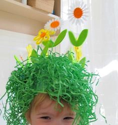 Ha ha... a unique Easter Bonnet - love it! But easy for the girls to make/decorate themselves???