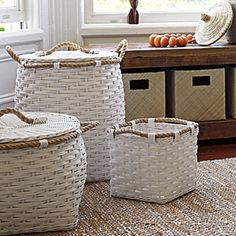 Rope Bin Collection- White from Serena and Lily