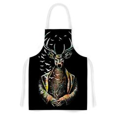Kess InHouse BarmalisiRTB There Is No Place color Deer Artistic Apron