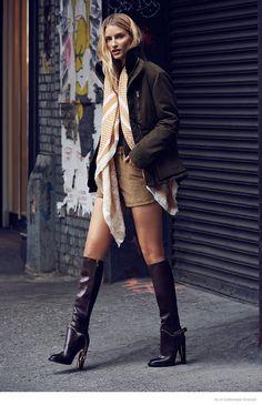 Linda Vojtova Models Fall Style for Elle Czech by Branislav Simoncik