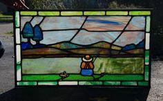 Vintage Stained Glass Window Circa 1925 | eBay