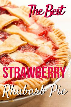 Hypoallergenic Pet Dog Food Items Diet Program Not Only The Best But The Easiest Recipe Too And It's A Winner Read All The Amazing Comments From Pinners Just Like You. We Use Frozen Strawberries And Rhubarb To Create This Amazing Pie So You Can Eat It All Easy Strawberry Rhubarb Pie, Rhubarb Desserts, Köstliche Desserts, Delicious Desserts, Dessert Recipes, Rhubarb Uses, Best Rhubarb Recipes, Strawberry Pie Recipe Using Frozen Strawberries, Best Strawberry Pie Recipe