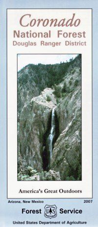 Coronado National Forest Map douglas ranger district  Waterproof -- See this great product.