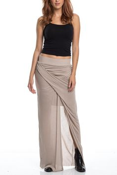 Criss cross front drapey long maxi with underskirt. Wide elastic waist band, super soft material.   Criss Cross Maxi by Amy's Allie . Clothing - Skirts - Maxi Ohio