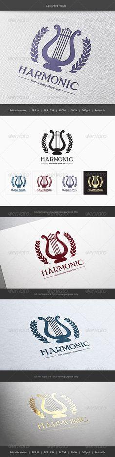 Harmonic Music Logo — Vector EPS #composer #voice • Available here → https://graphicriver.net/item/harmonic-music-logo-/5889065?ref=pxcr
