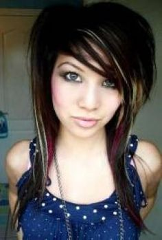 Long Choppy Hairstyle - Scene Girl Hairstyles Pictures