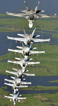 Stack of F/18 Super Hornet