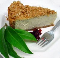 Lemon Myrtle Cheesecake with Macadamia Crumble
