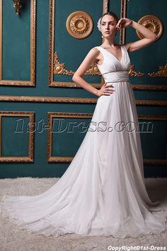 Discount Romantic V-neckline Beach Bridal Gown IMG 1338 1st-dress.com  Wedding. Wedding Dresses For Busty BridesWedding Dresses 2014Cheap ... 606eb3a442bf
