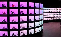 """United Nude London Store's """"Wall of Light"""""""