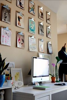 The Clipboard Art Trick — Apartment Therapy (A great idea for the studio/ home office)