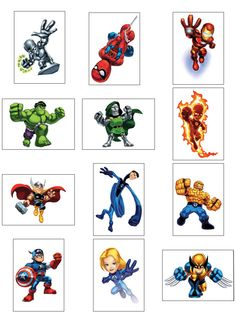 Super Hero Sqad Detail Super Hero Squad gifts make the best toys and gifts for kids. Little boys from ages three to ten years old are . Superhero Villains, Superhero Party, Marvel Characters, Marvel Heroes, Baby Avengers, Avengers Art, Avengers Birthday, Drawing Superheroes, Marvel Drawings