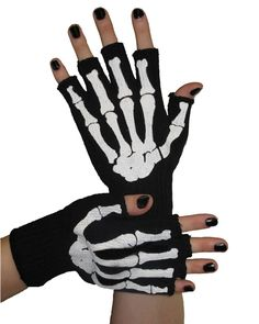 Fingerless Skeleton Bone Gloves #Día de los Muertos #day of the dead #dia de muertos