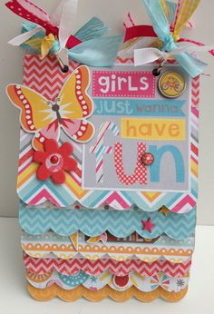 SALE Premade Mini Album Scrapbook for Girl by ArtsyAlbums on Etsy, $32.99