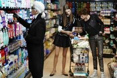 Ha! Karl Lagerfeld Goes Grocery Shopping for the First Time.