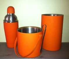 Vintage // Danish // Barware Set // Cocktail Shaker // Ice Bucket // Tongs by GotRetro, $79.00