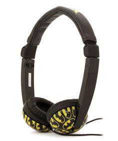 Look at this #zulilyfind! Batman Volume Control Headphones by Batman #zulilyfinds