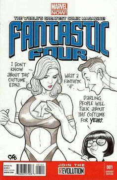 Fantastic Four #1 Variant Frank Cho.