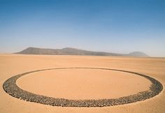 Mysterious circle of stones. Tenere, Niger