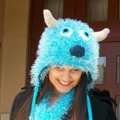 Sulley Hat AND Scarf Set. $47.00, via Etsy.