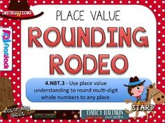 For those who are in a hurry, here's the freebie link for your Place Value Partners: Rounding Rodeo PowerPoint Math Game based on common core standard For those who are not in a hurry. Math Place Value, Place Values, Rounding Activities, Math Games, Group Activities, Math Round, Rodeo, Teaching Math, Maths